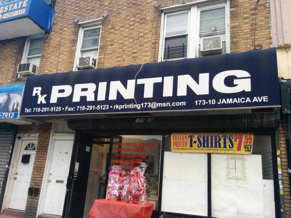 RK Printing: 17310 Jamaica Ave, Jamaica, NY