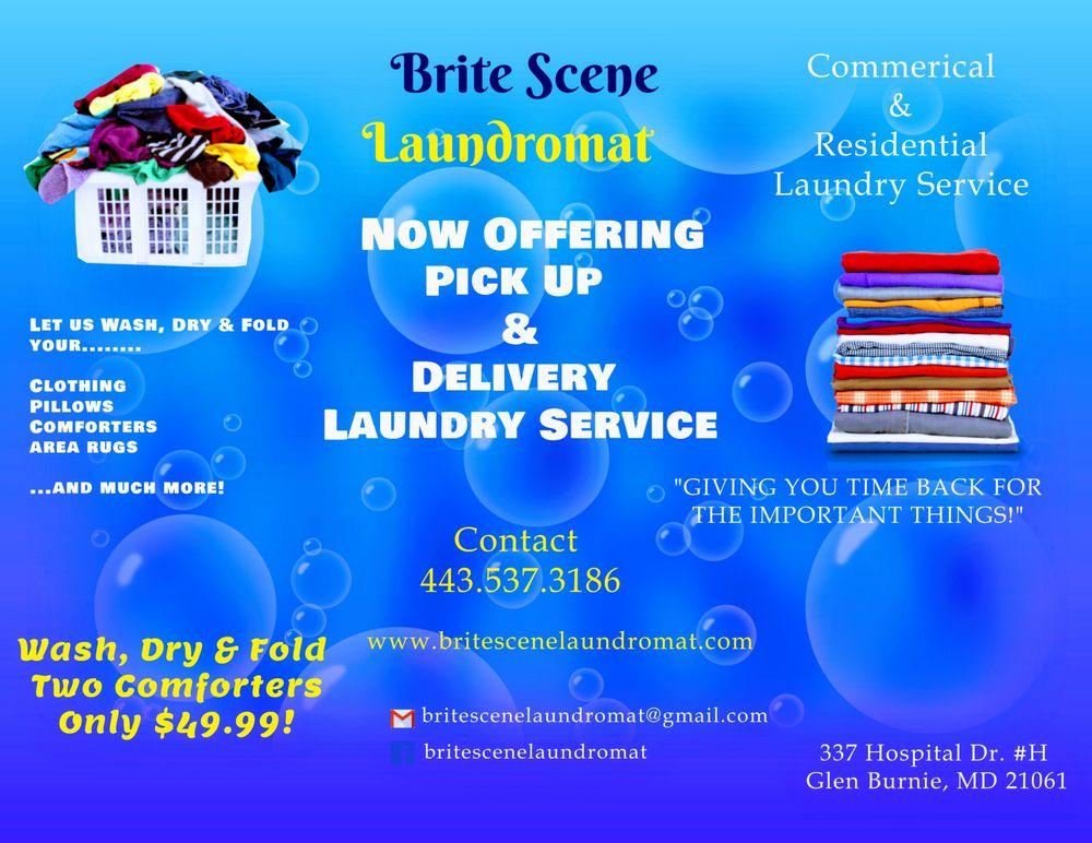 Brite Scene Laundromat: 337 Hospital Dr, Glen Burnie, MD