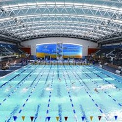 The National Aquatic Centre Schwimmhalle Freibad