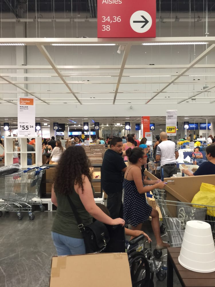 Restaurant Ikea Miami Of Saturday Night 6 26 Registers Open At 8 40pm Yelp