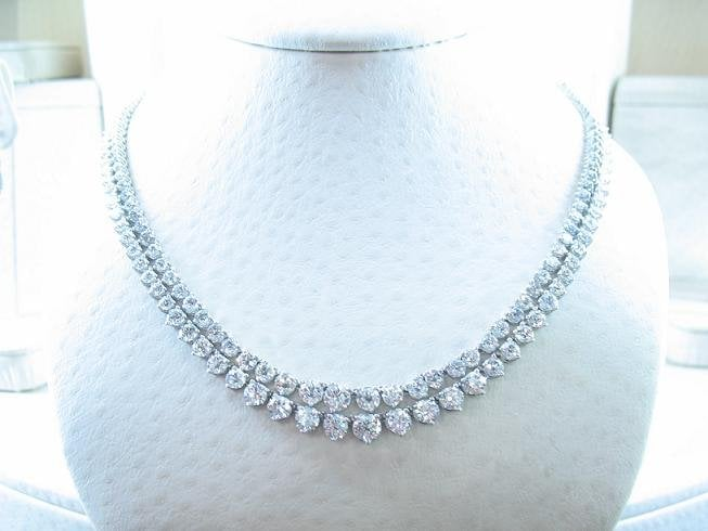 White gold diamond tennis necklaces yelp for Rj jewelry loan company
