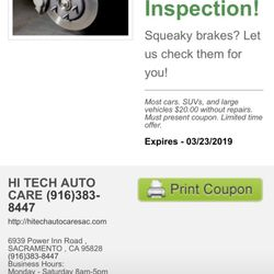 OIL CHANGE COUPON - $34.95 - Oil Change (Most Cars*) up to 5 quarts at Hi-Tech of Blawnox