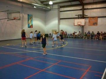 Our Gym Where We Play Basketball Floor Hockey Volleyball Yelp