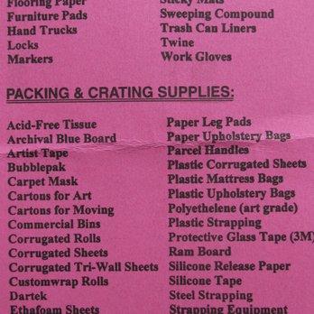 Long Island Bureau.Van Owners Purchasing Bureau Packing Supplies 1035 45th