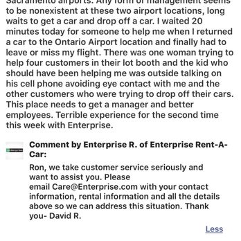 Enterprise Rental Car Airport Phone Number