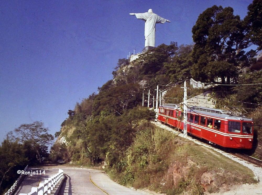 Christusstatue Corcovado Rio De Janeiro Brasilien Die