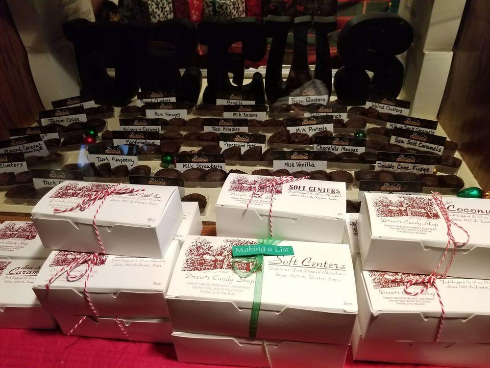Drew's Chocolates: 426 State St, Dexter, IA