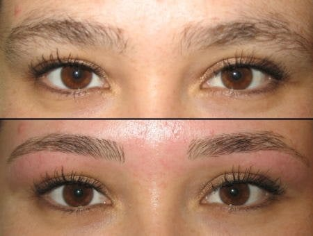 Brow Shaping before and after - Yelp
