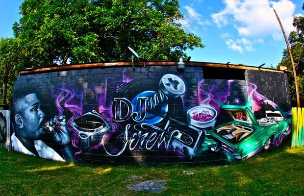 Custom Painted Dj Screw Mural Memorial  - Yelp