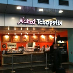 Naked at fast food