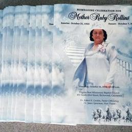 Photo Of The Funeral Program Site Mckinney Tx United States Custom Large