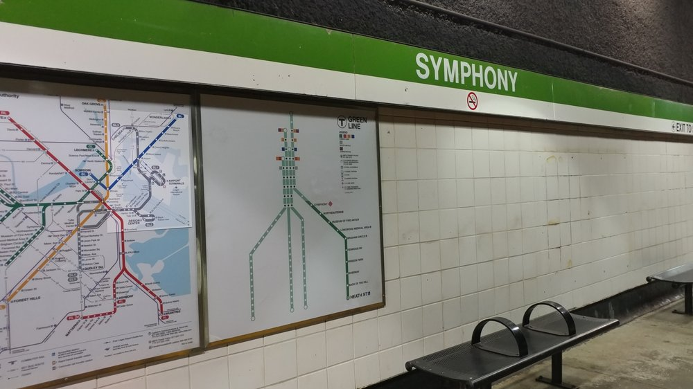 MBTA Symphony Station: Massachusetts Ave, Boston, MA