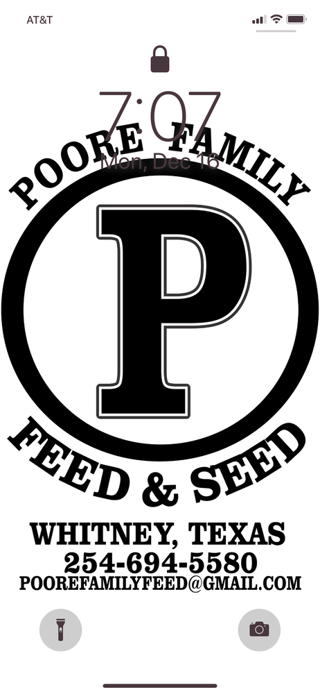 Poore Family Feed & Seed: 215 S Bosque St, Whitney, TX