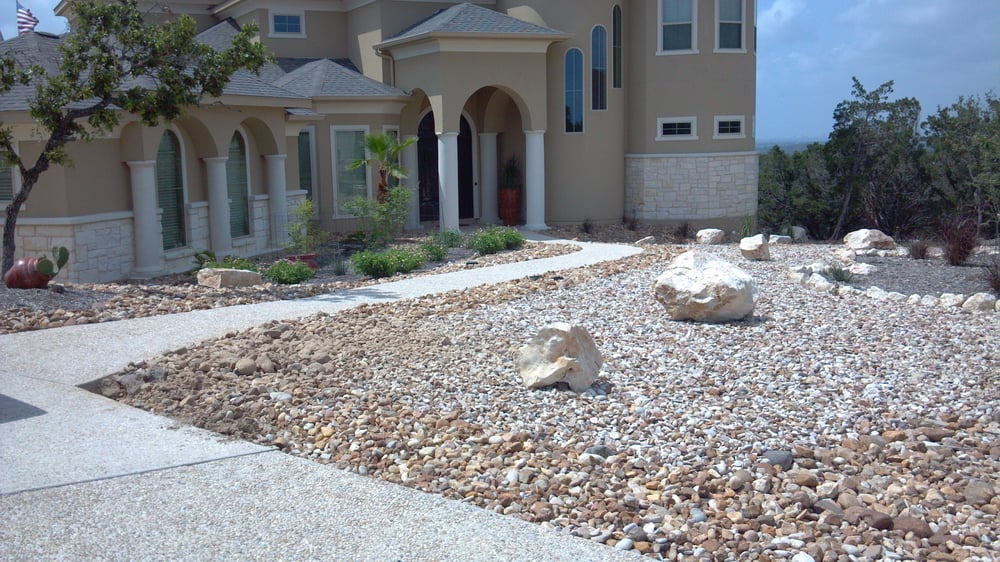 Variety of texas blend rock and large boulders 100 for Landscaping rocks midland tx