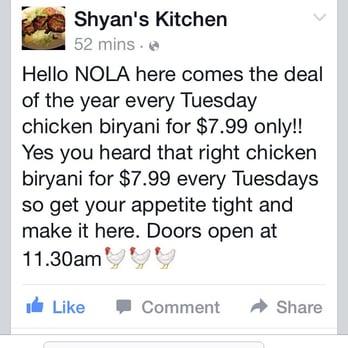 Shyan S Kitchen Metairie La