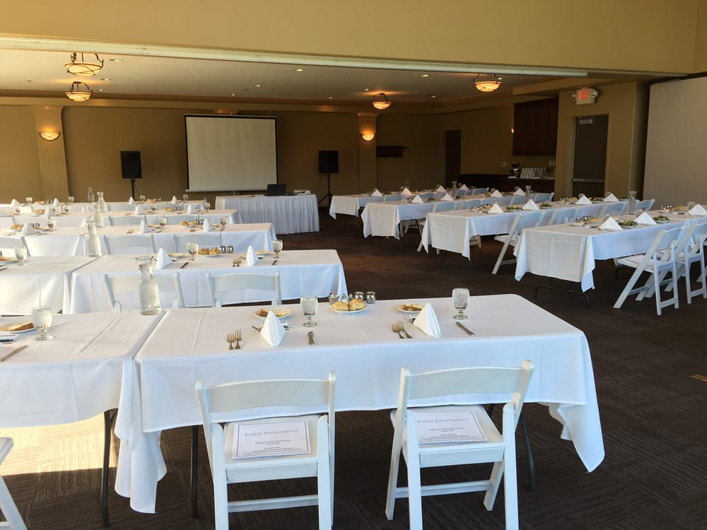 Private Dining Room-set up classroom style for a presentation - Yelp