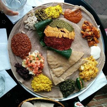 Photo Of Langano Ethiopian Restaurant Silver Spring Md United States Vegetarian Platter