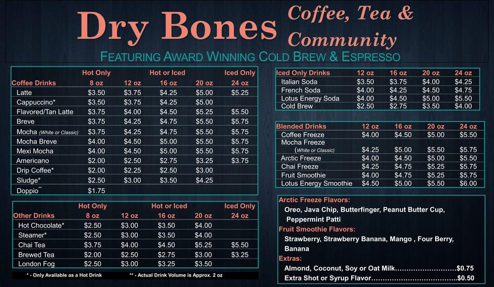 Dry Bones Coffee, Tea & Community: 11595 Kenai Spur Hwy, Kenai, AK