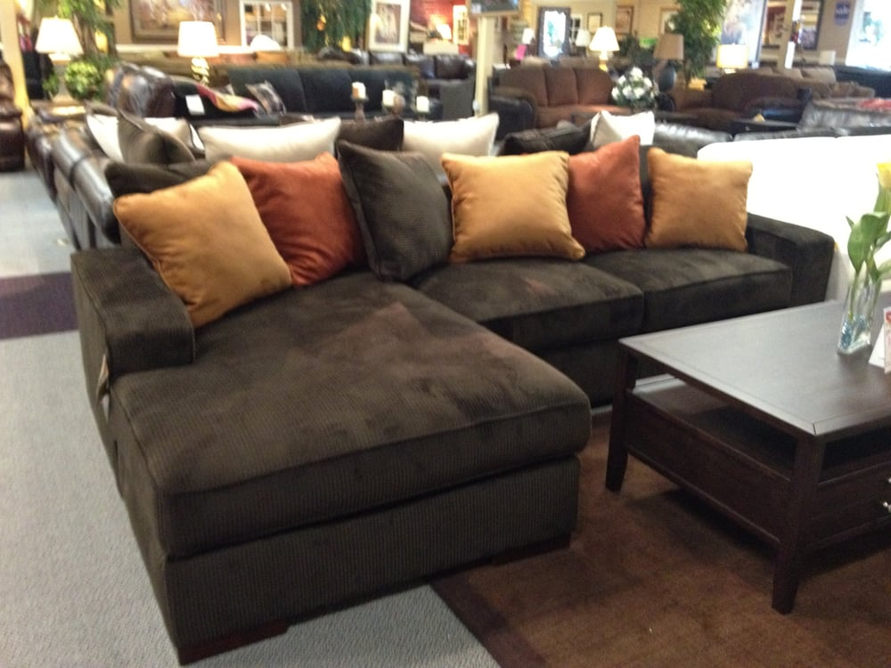 Ashley Chocolate Corduroy Sectional Sofa. Starting At Only