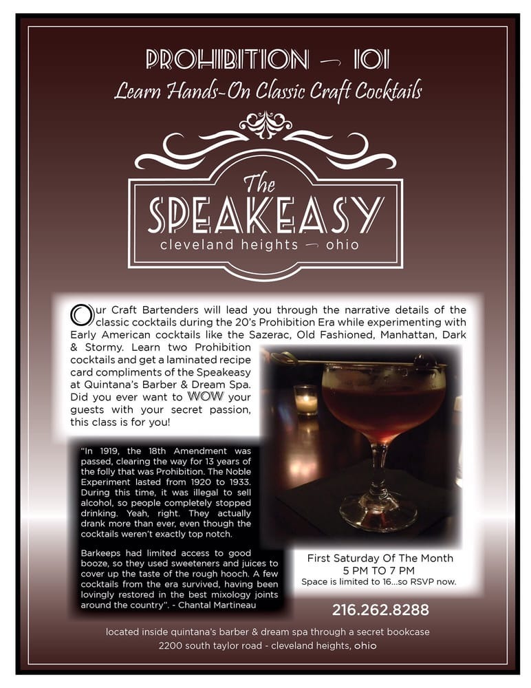 Quintana's Speakeasy: 2200 S Taylor Rd, Cleveland Heights, OH
