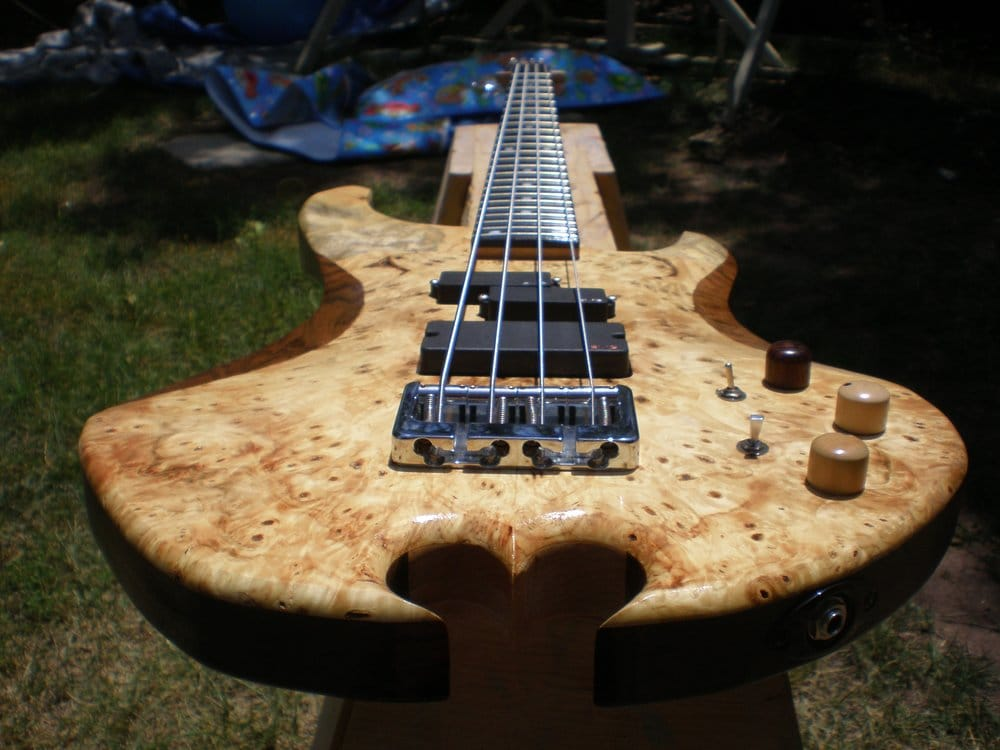 neck thru buckeye on walnut bass with emg pickups and aguilar preamp ooooh yeah yelp. Black Bedroom Furniture Sets. Home Design Ideas