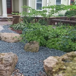 Photo Of A Team Landscaping   Nerstrand, MN, United States. Planting And  Rock. Planting And Rock Garden