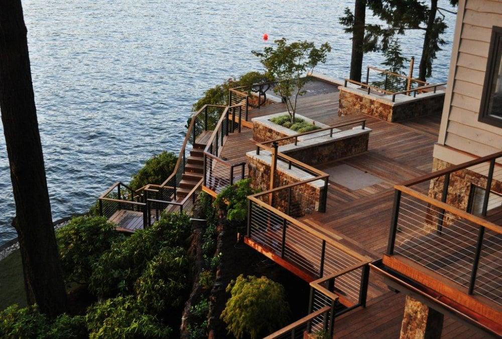 Residential Deck Design Consultation And Engineering Done By JAS Engineering Overlooking Lake ...