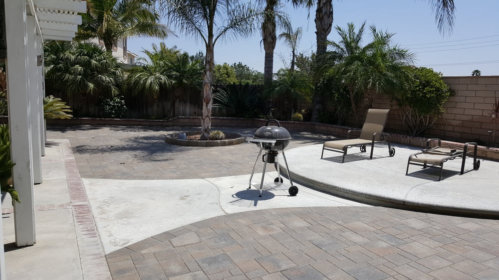 Backyard Paver Patio Orco Villa Borrego With Color
