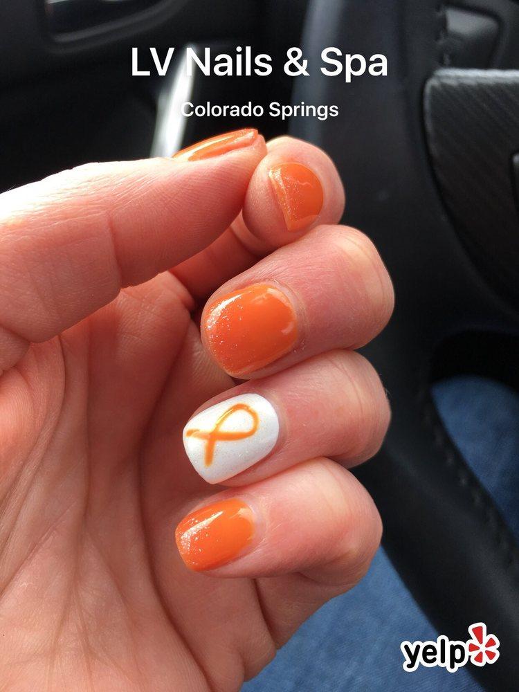 Leukemia awareness nail art and manicure by Yasmine. - Yelp