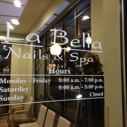 Opening hours yelp for Nail salon hours