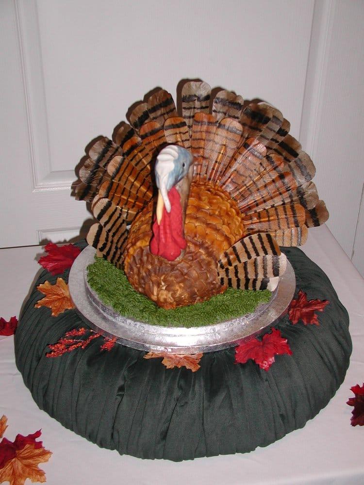 Happy Birthday Cake With Turkey