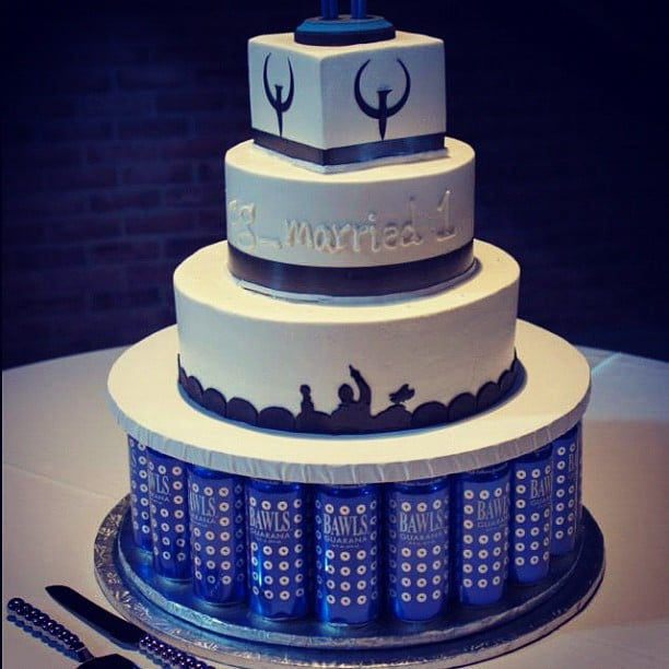 Our wedding cake by panini bakery the cake stand of bawls energy photo of panini bakery cakes dallas tx united states our wedding solutioingenieria Images