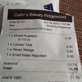 Carlo S Bakery Prices List For Cakes
