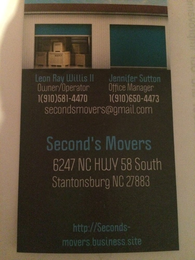 Second's Movers: 6247 NC HWY 58 S, Stantonsburg, NC