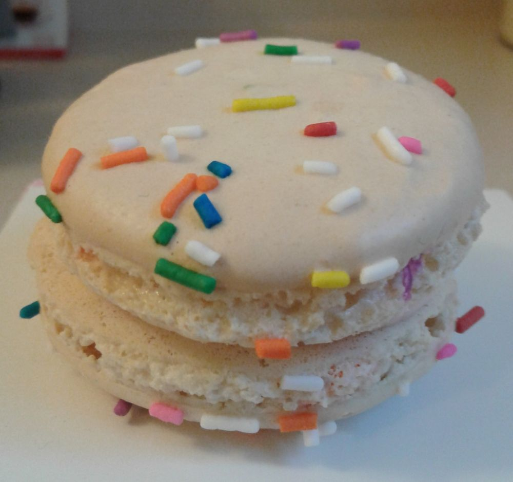 They Just Happened To Make Birthday Cake Macarons On My Actual Tasted Like Too