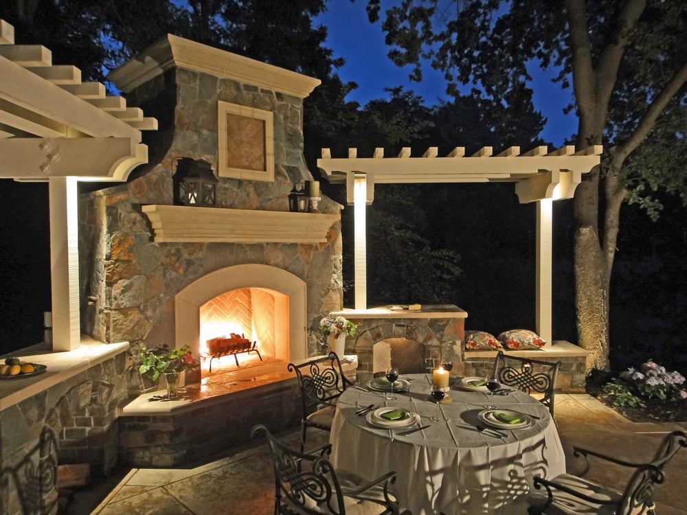 Beautiful Outdoor Fireplace And Patio Yelp
