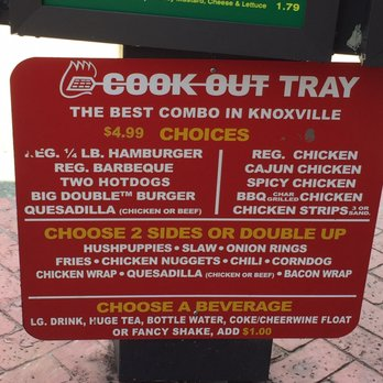 Photo Of Cook Out Knoxville Tn United States Their Menu