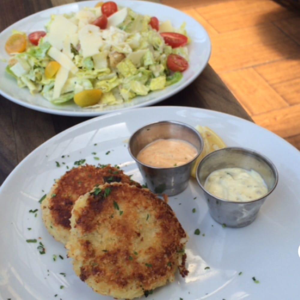 Caesar salad and rock 39 n crab cakes yelp for Rock n fish manhattan beach