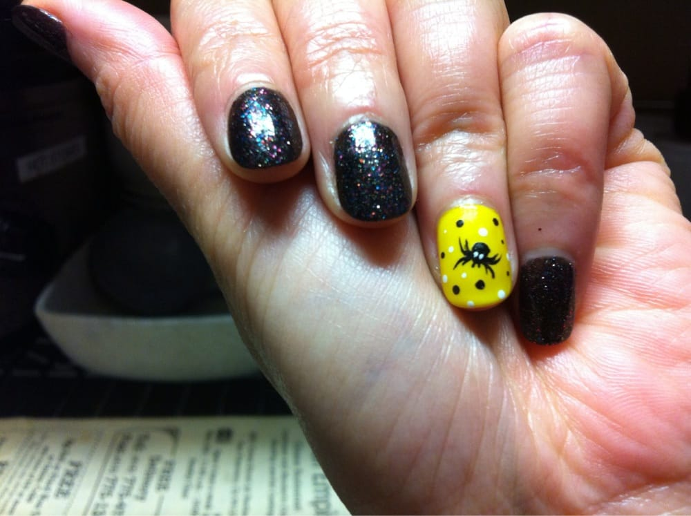 New nail style for Halloween - Yelp
