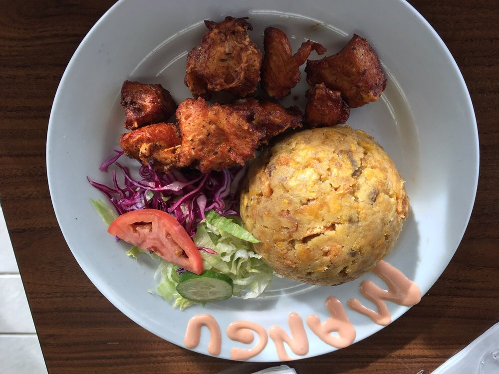 ... plantain and chicken dish. Forgot the name, and it's not on the menu