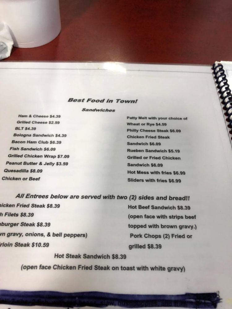 Backwoods Cafe: 307 N 6th St, Tupelo, OK