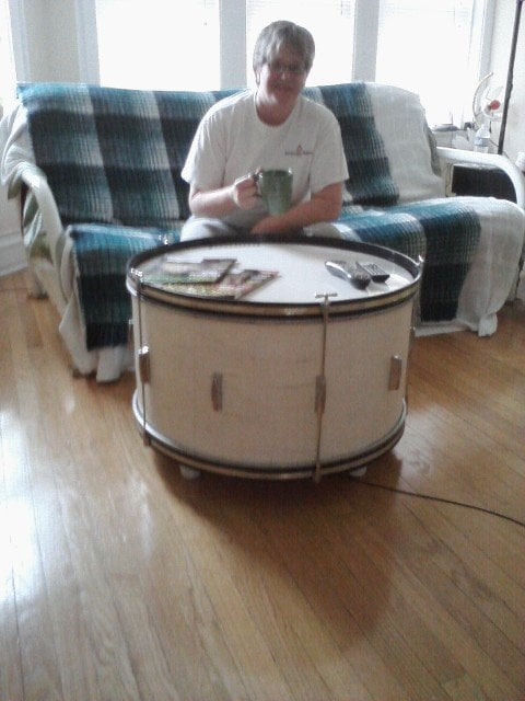 Another Fun Silent Auction Project A Bass Drum Coffee Table I - Bass coffee table