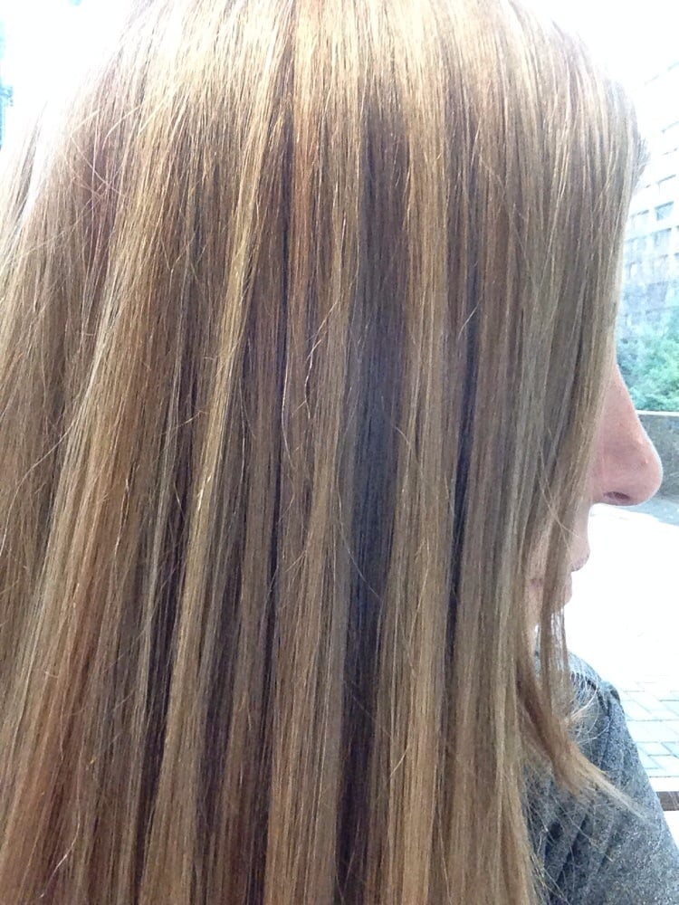 Blonde highlights over older red ombr with a neutral blonde photo of hair cuttery washington dc united states blonde highlights over pmusecretfo Image collections