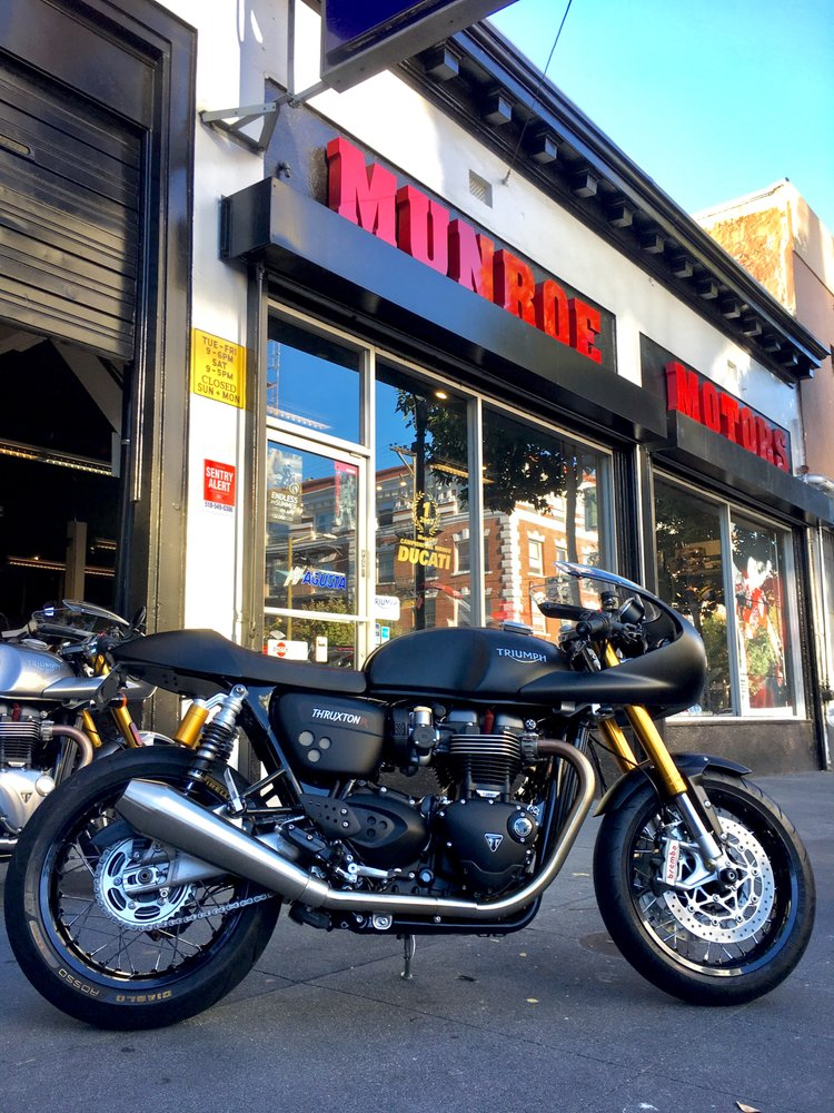 Custom triumph thruxton r yelp for Munroe motors san francisco ca