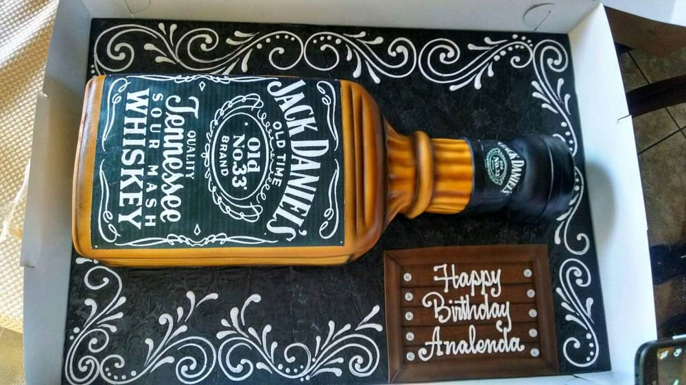 Jack Daniels Surprise Birthday Cake Triple Layer White Cake With