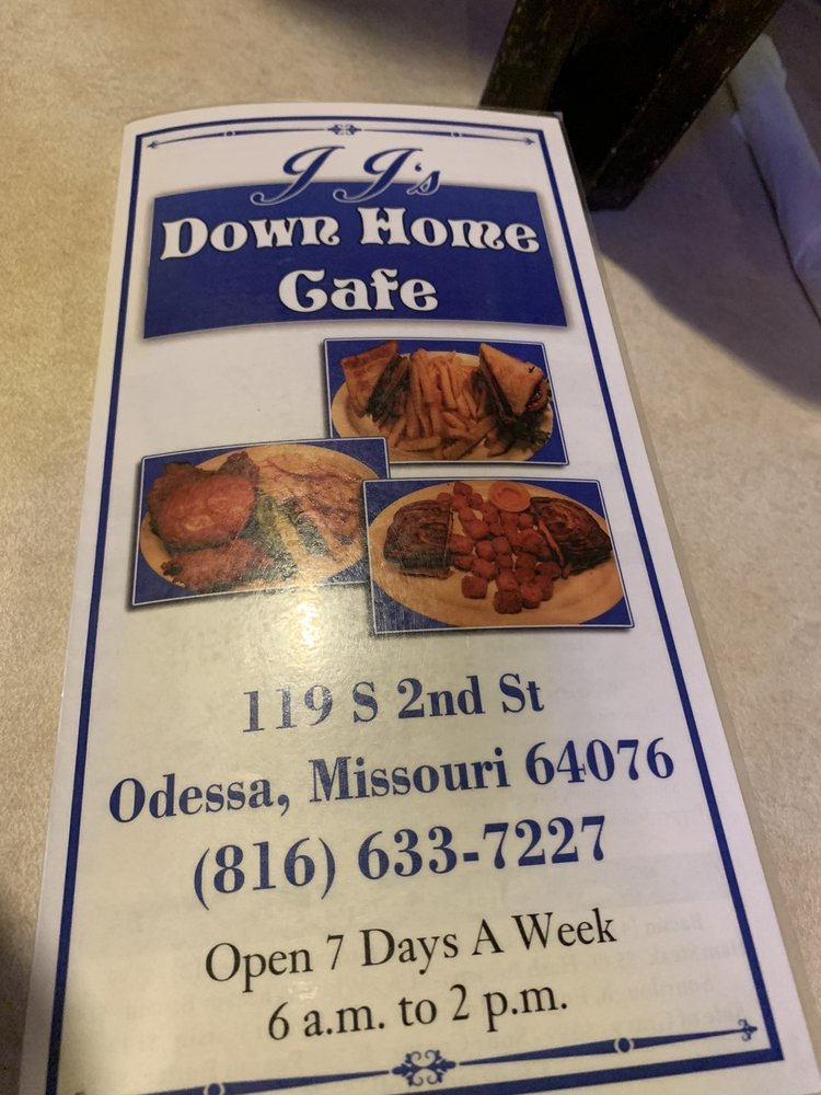 Down Home Cafe: 119 S 2nd St, Odessa, MO