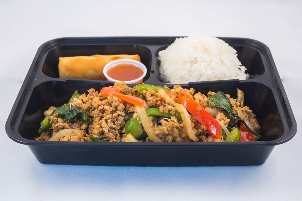 Minced Chicken Kaprw Lunch Special 9 Only Served With Side House