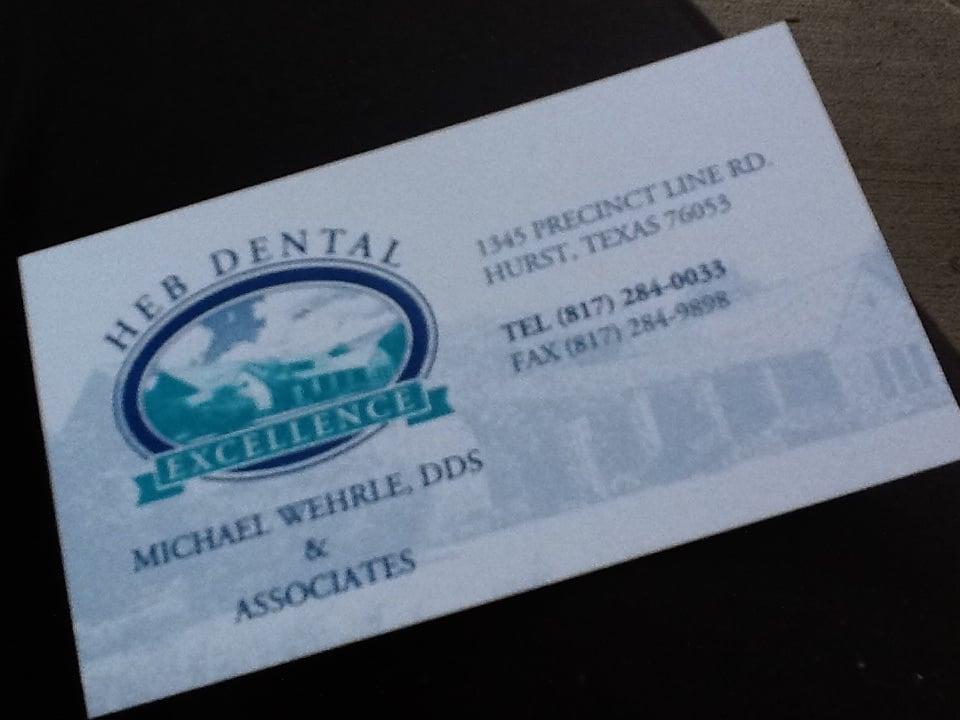 ... Dental - Hurst, TX, United States. HEB Dental Excellence business card