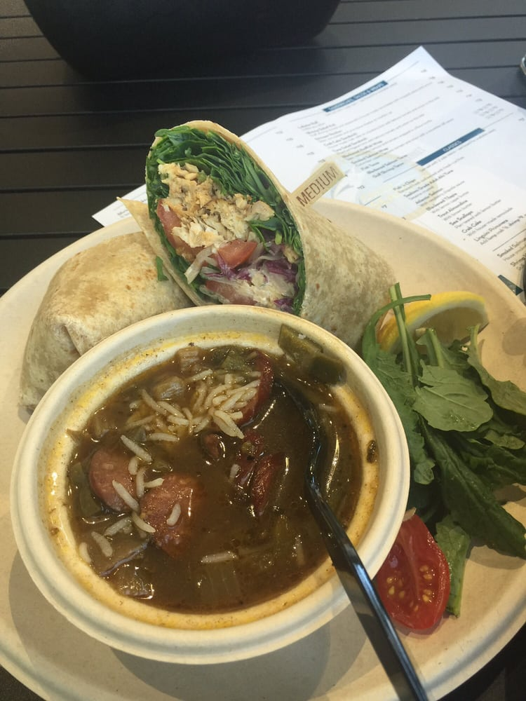 Red fish wrap and gumbo yelp for Go fish poke dallas