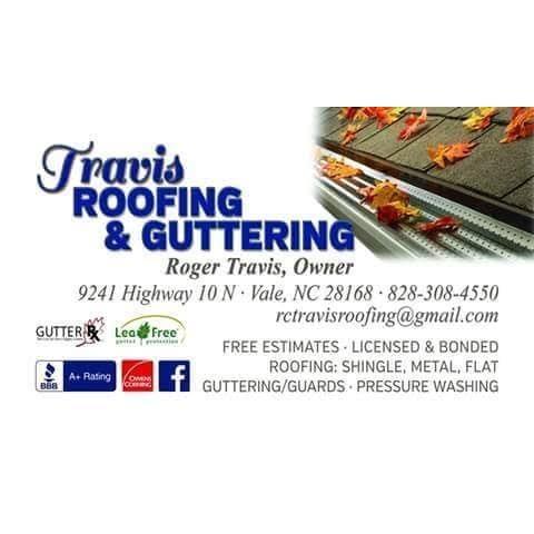 Travis Roofing & Guttering: 9241 N Hwy 10, Vale, NC
